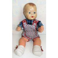 Кукла старинная номерная пресс опилки, папье маше. Антикварная кукла младенец