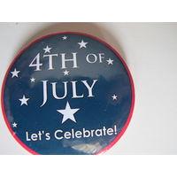 """Американский значок """"День Независимости США"""""""
