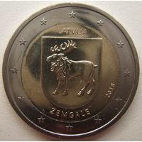 Латвия 2 евро 2018 г. Земгале