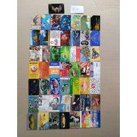 Лот телефонных карт разных стран 50 штук #32