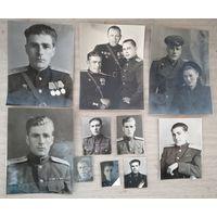 Коллекция фотографий воинского пути офицера-орденоносца. 1938 - 1990-е. От 2х3 до 17х24 см.