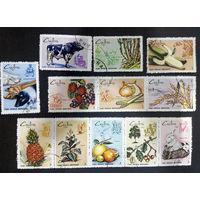 Куба 1969 г. Сельское хозяйство Фауна, две сцепки, полная серия из 12 марок #0013-Ф1P3
