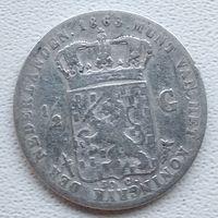 Нидерланды 1/2 гульдена, 1862 6-5-7