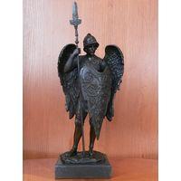 """Скульптура """"Архангел трёх религий Михаил"""", Франция (На статуэтке имеется клеймо-бренд """"Bronze garanti Paris J.B.DePosee"""")"""