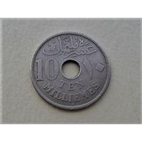 Египет 10 миллимов 1917 Н
