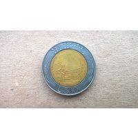 Италия 500 лир, 1986г. **