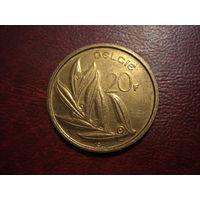 20 франков 1981 года Бельгия