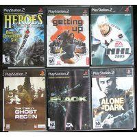 Игры ( 6 шт. ) для  Sony PlayStation 2  б/у набор 3