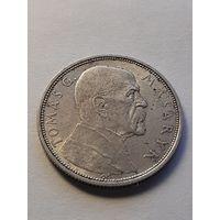 10 крон Чехословакия 1928 года (10 лет независимости, Томаш Масарик). 700.