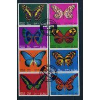 Оман 1968г. бабочки. 8м. 1 блок