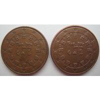 Португалия 5 евроцентов 2002, 2008 гг. Цена за 1 шт.