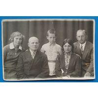Семейное фото. Витебск. 1930-е. 8.5х13 см