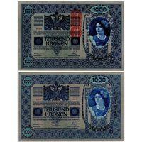 Австрия. 1000 крон (образца 1902 года, выпуск 1919, P59, UNC)
