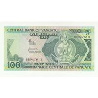 Вануату 100 вату образца 1982 года. Состояние UNC!