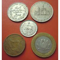 Набор из 5-ти монет Ирана
