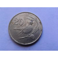 Кипр 20 центов 1983г птичка.  РАСПРОДАЖА