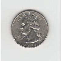 25 центов (квотер) США 1996 Р Лот 4182