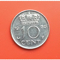 Нидерланды, 10 центов 1969 г. Распродажа!