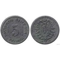 YS: Германия, Рейх, 5 пфеннигов 1874F, KM# 3 (2)