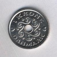 Дания, 1 крона 2001 г.