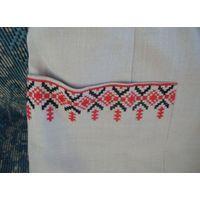 Костюм женский лен вышивка  50 годы