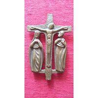 Крест бронзовый литой настенный. Сер. 20 в. Германия. 12х8 см
