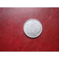 10 геллеров 1981 год Чехословакия