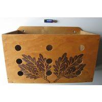 Ящик деревянный цветочный настенный, кашпо