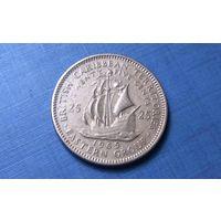 25 центов 1965. Восточные Карибы. Тираж 1.280.000!
