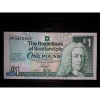 Шотландия. 1 фунт 1999 г. Шотландский парламент. UNC