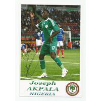 Joseph Akpala(Нигерия). Фотография с живым автографом.