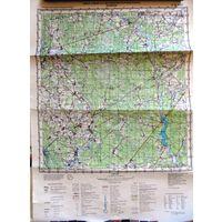 БЕЛЫНИЧИ, карта 40х53 см.
