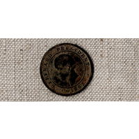 Гаити 20 сантимов 1863 /Bro/ REPUBLIQUE DE HAITI / VINGT CENTIMES GEFERARD PRESIDENT 1863(#Су)