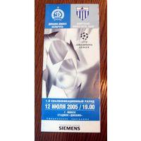 2005 Динамо (Минск) - Анортосис (Кипр)