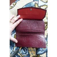 Женский кошелек / портмоне с отделением для монет, натуральная кожа