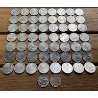 Квотеры (25 центов) США. 58шт. Цена за все!
