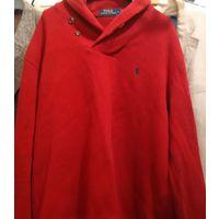 Худи (толстовка, свитер) POLO Ralph Lauren, красный, разм.L, хлопок ; 50 руб