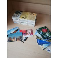 Коллекция Телефонные карточки примерно 170 шт