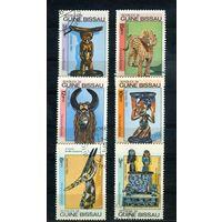 Гвинея-Бисау 1984г, фигурки, 6м.