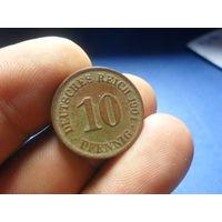 10 пфеннигов 1901 г. А Германия (2)