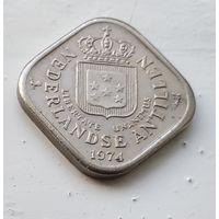 Нидерландские Антильские острова 5 центов, 1974 1-1-48