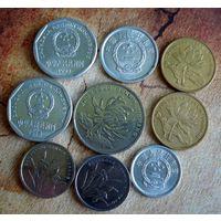 Китай. 9 монет 1982-2015 г.