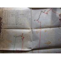 План вёскі Савічы Наваградзкага ўезда (Баранавіцкі раён), карта 1912 года