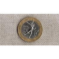 Франция 10 франков 1990 /биметалл/