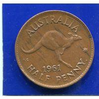 Австралия 1/2 пенни 1961
