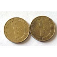 Финляндия, 1 марка 1993, 1994 г