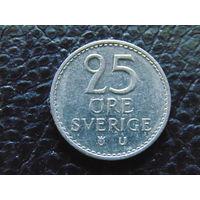 Швеция 25 эре 1973 год. Густав VI.