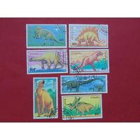 Монголия 1990г. Динозавры.