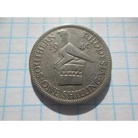 ЮЖНАЯ РОДЕЗИЯ  1 ШИЛЛИНГ 1949 ГОД