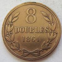 Гернси 8 дублей 1864